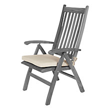 Buy Barlow Tyrie High Back Outdoor Seat Cushion, White Sand Online at johnlewis.com