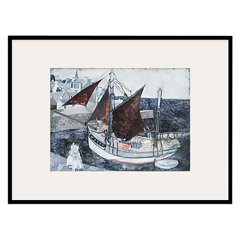 Buy Tate, Christopher Wood- Boat In Harbour Brittany Framed Print, 42 x 52cm Online at johnlewis.com