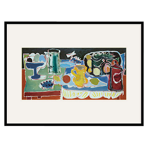 Buy Tate, Patrick Heron- The Long Table With Fruit 1949 Framed Print, 80 x 60cm Online at johnlewis.com