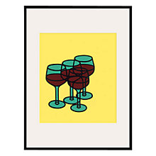 Buy Tate, Patrick Caulfield- Wine Glasses 1969 Framed Print, 80 x 60cm Online at johnlewis.com