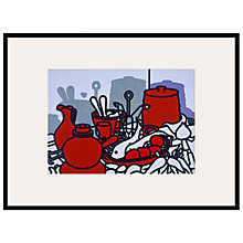 Buy Tate, Patrick Caulfield- Glazed Eathenware 1976 Framed Print, 80 x 60cm Online at johnlewis.com