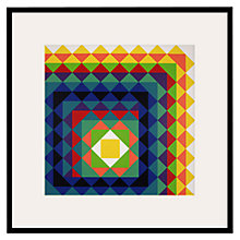 Buy Tate, Herbert Bayer- Chromatic Triangulation II Framed Print, 60 x 60cm Online at johnlewis.com