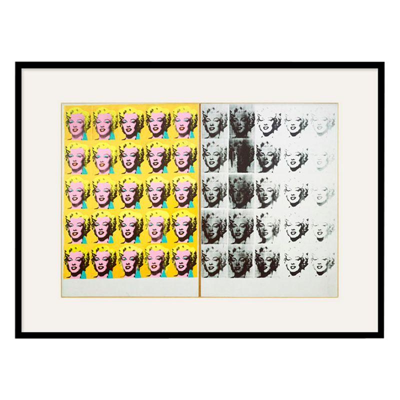 Tate Andy Warhol- Marilyn Diptych 1962 Framed Print, 80 x 60cm