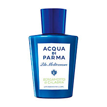 Buy Acqua di Parma Blu Mediterraneo Bergamotto di Calabria Exhilarating Body Milk, 200ml Online at johnlewis.com