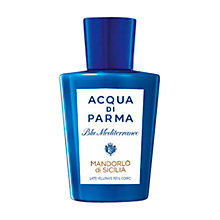 Buy Acqua di Parma Blu Mediterraneo Mandorlo di Sicilia Pampering Body Milk, 200ml Online at johnlewis.com