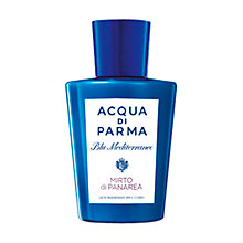 Buy Acqua di Parma Blu Mediterraneo Mirto di Panarea Regenerating Body Milk, 200ml Online at johnlewis.com