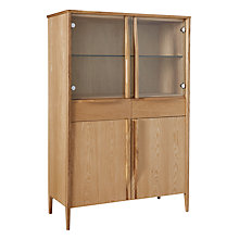 Buy ercol for John Lewis Pinter Glazed Display Cabinet Online at johnlewis.com