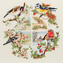 Buy Anchor Birds of the Season Cross Stitch Kit Online at johnlewis.com