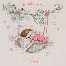 Buy Anchor Country Companions Birth Sampler Cross Stitch Kit Online at johnlewis.com
