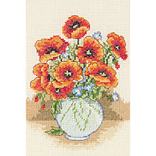Buy Anchor Poppy Vase Counted Cross Stitch Starter Kit Online at johnlewis.com