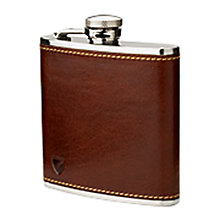 Buy Aspinal of London Smooth Leather Hip Flask, Cognac Online at johnlewis.com