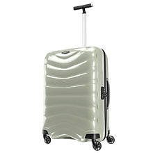 Buy Samsonite Firelite 4-Wheel 69cm Medium Suitcase, White Online at johnlewis.com