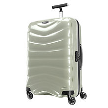 Buy Samsonite Firelite 4-Wheel 75cm Large Suitcase, White Online at johnlewis.com