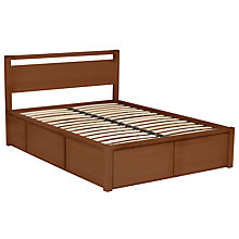 Buy John Lewis Sullivan Oak Storage Bed & Headboard, Walnut Stain, Double Online at johnlewis.com