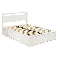 Buy John Lewis Sullivan Oak Storage Bed & Headboard, White Finish, Kingsize Online at johnlewis.com
