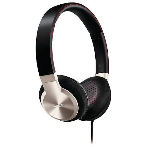 Buy Philips SHL9700/10 On-Ear Headphones, Black/Silver Online at johnlewis.com