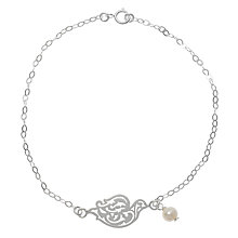 Buy Martick Silver Bird and Pearl Bracelet Online at johnlewis.com