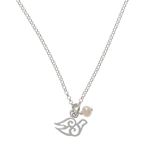 Buy Martick Silver Bird and Pearl Pendant Necklace Online at johnlewis.com