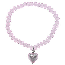 Buy Martick Faceted Crystal Murano Heart Bracelet Online at johnlewis.com