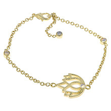 Buy Melissa Odabash Gold Plated Crystal Stone Set Lotus Bracelet, Gold Online at johnlewis.com