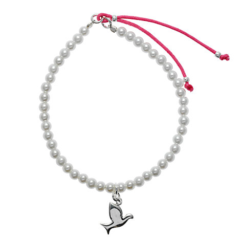 Buy Martick Pearl Friendship Bracelet with Bird Online at johnlewis.com
