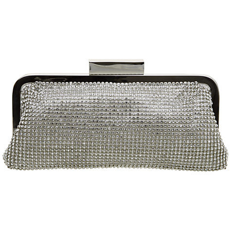Buy Dune Minted Diamante Evening Clutch Bag, Silver Online at johnlewis.com