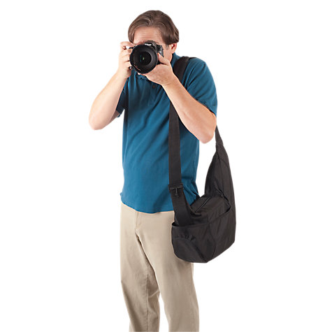 Buy Lowepro Passport Sling Camera Bag, Black Online at johnlewis.com