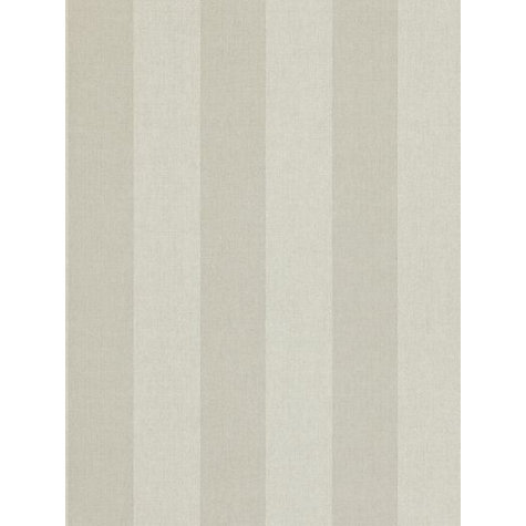 Buy Zoffany Linen Stripe Wallpaper, Silver, PAW06001 Online at johnlewis.com