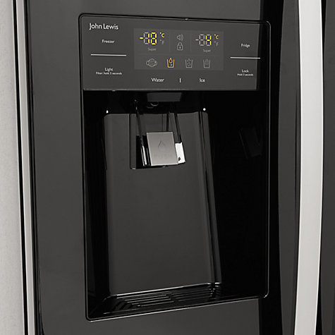 Buy John Lewis JLAFFB2011 American Style Fridge Freezer, Black Online at johnlewis.com