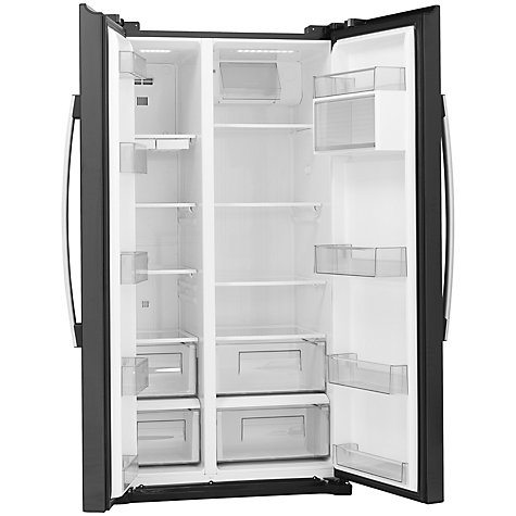 Buy John Lewis JLAFFB2012 American Style Fridge Freezer, Black Online at johnlewis.com