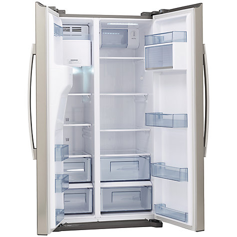 Buy John Lewis JLAFFS2011 American Style Fridge Freezer, Silver Online at johnlewis.com