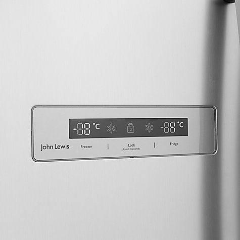 Buy John Lewis JLAFFS2012 American Style Fridge Freezer, Silver Online at johnlewis.com