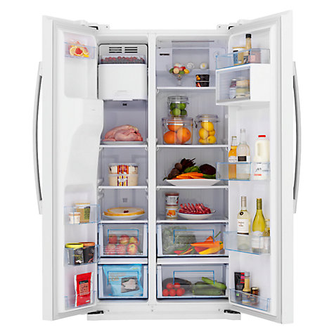 Buy John Lewis JLAFFW2011 American Style Fridge Freezer, White Online at johnlewis.com