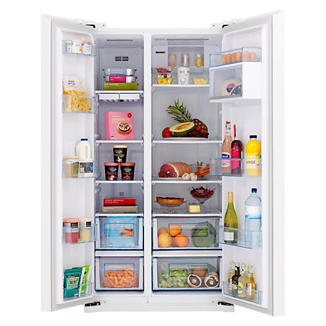 Buy John Lewis JLAFFW2012 American Style Fridge Freezer, White Online at johnlewis.com