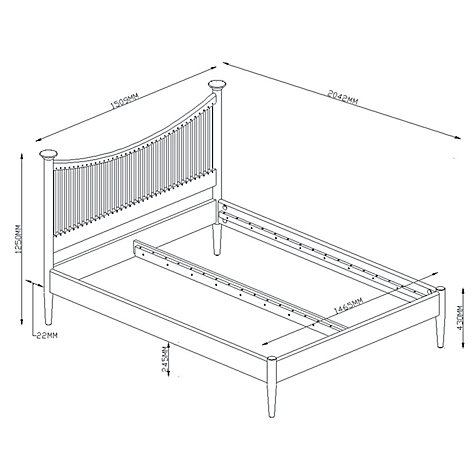 Buy John Lewis Essence Low End Bed Frame, Oak, Double Online at johnlewis.com