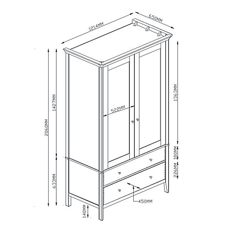 Buy John Lewis Essence 2-door Wardrobe, Oak Online at johnlewis.com