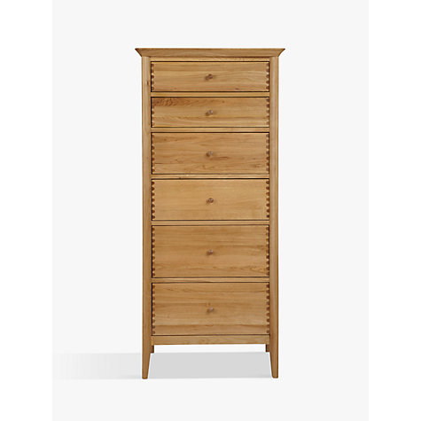 Buy John Lewis Essence Tall 6 Drawer Chest of Drawers, Oak Online at johnlewis.com