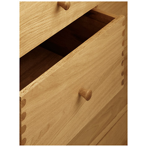 Buy John Lewis Essence Wide 7 Drawer Chest of Drawers, Oak Online at johnlewis.com