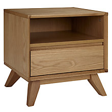 Buy House by John Lewis Stride 1 Drawer Bedside Table, Oak Online at johnlewis.com