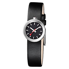 Buy Mondaine Women's Aura Interchangeable Strap Black Dial Watch Online at johnlewis.com