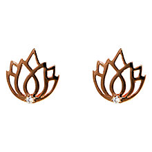 Buy Melissa Odabash Lotus Stone Set Stud Earrings Online at johnlewis.com