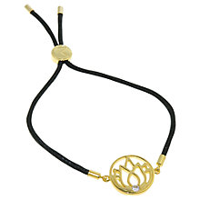 Buy Melissa Odabash Lotus Gold Plated Charm Bracelet Online at johnlewis.com