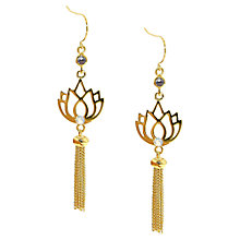 Buy Melissa Odabash Gold Plated Lotus Tassel Drop Earrings Online at johnlewis.com