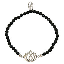 Buy Melissa Odabash Faceted Bead Lotus Charm Bracelet Online at johnlewis.com