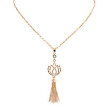 Buy Melissa Odabash Lotus Tassel Pendant Necklace Online at johnlewis.com