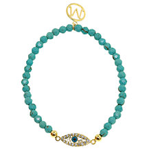 Buy Melissa Odabash Turquoise and Gold Plated Evil Eye Bracelet Online at johnlewis.com