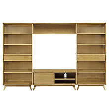 Buy House by John Lewis Stride Media Display, Wide Bookcases Online at johnlewis.com