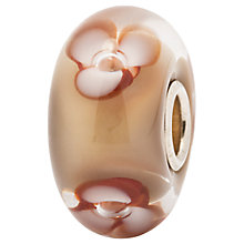 Buy Trollbeads Cappuccino Flower Glass Bead, Beige Brown Online at johnlewis.com