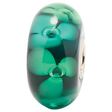 Buy Trollbeads Green Forest Flowers Glass Bead, Green Online at johnlewis.com