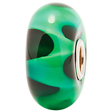 Buy Trollbeads Green Wave Glass Bead, Green Online at johnlewis.com